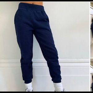 Aritzia tna cozy AF jogger sweat pants sz s navy